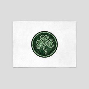 Celtic Shamrock Mosiac 5'x7'Area Rug