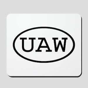 UAW Oval Mousepad