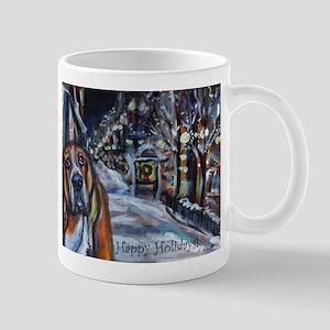 Basset Hound Holiday Mug