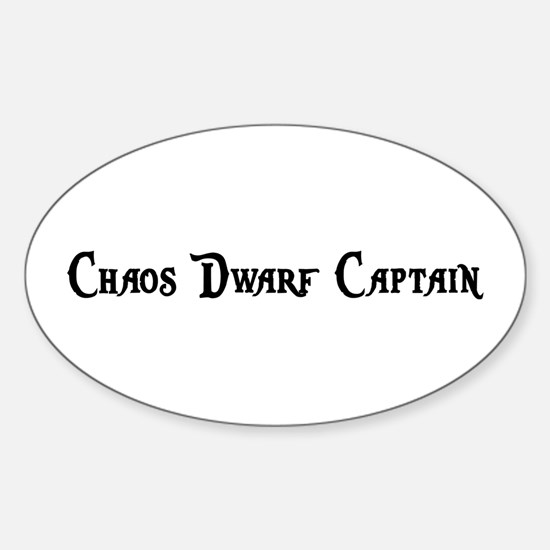 Chaos Dwarf Captain Oval Decal