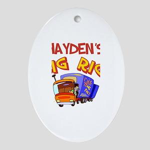 Hayden's Big Rig Oval Ornament