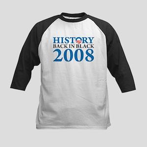 History Obama Back in Black Kids Baseball Jersey