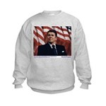 Reagan on Liberal Ignorance Kids Sweatshirt