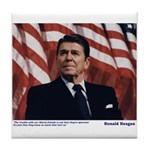 Reagan on Liberal Ignorance Tile Coaster