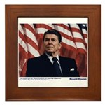 Reagan on Liberal Ignorance Framed Tile