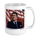 Reagan on Liberal Ignorance Large Mug