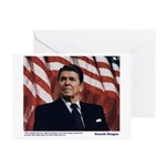 Reagan on Liberal Ignorance Greeting Cards (Pk of