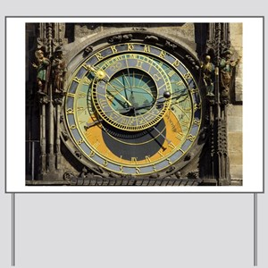 Prague Astronomical Clock Tower in Old T Yard Sign