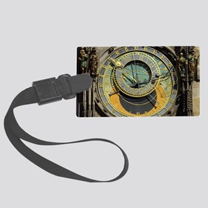 Prague Astronomical Clock Tower Large Luggage Tag