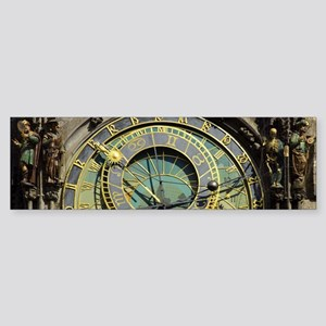 Prague Astronomical Clock Tower in Bumper Sticker