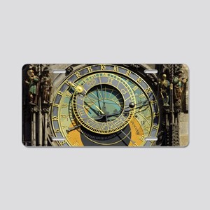 Prague Astronomical Clock T Aluminum License Plate