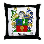 Nikitin Family Crest Throw Pillow
