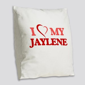 I love my Jaylene Burlap Throw Pillow