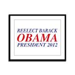 Reelect Obama 2012 Framed Panel Print