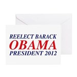 Reelect Obama 2012 Greeting Cards (Pk of 10)