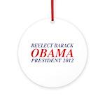 Reelect Obama 2012 Ornament (Round)