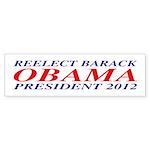 Reelect Obama 2012 Bumper Sticker