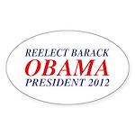 Reelect Obama 2012 Oval Sticker