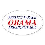 Reelect Obama 2012 Oval Sticker (50 pk)