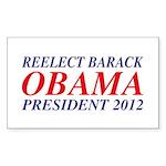 Reelect Obama 2012 Rectangle Sticker 10 pk)
