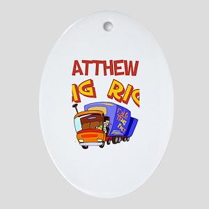 Matthew's Big Rig Oval Ornament