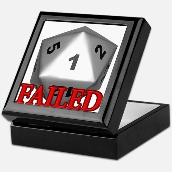 Failed D20 Keepsake Box