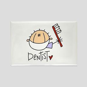 Male Dentist Rectangle Magnet