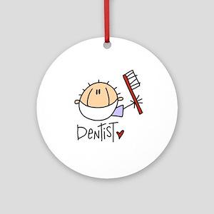 Male Dentist Ornament (Round)