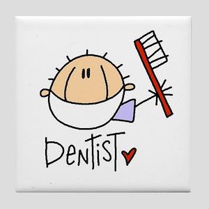 Male Dentist Tile Coaster