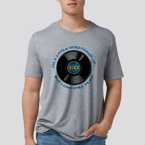 Scratched Record 60th Birthday Mens Trible T-Shirt
