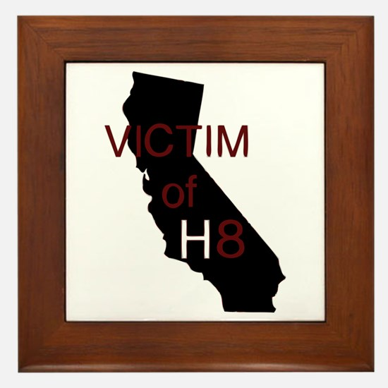 Cute Victim of h8 Framed Tile