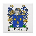 Persky Family Crest Tile Coaster