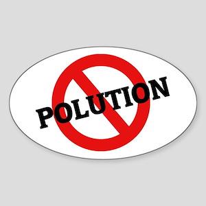 Anti Pollution Oval Sticker