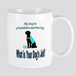 Torrette's syndrome service dog Mugs