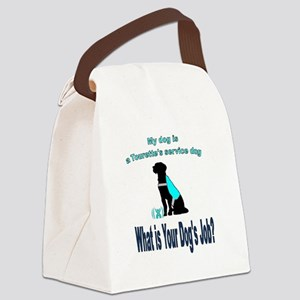 Torrette's syndrome service dog Canvas Lunch Bag