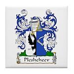 Pleshcheev Family Crest Tile Coaster