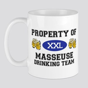 Property of Masseuse Drinking Team Mug