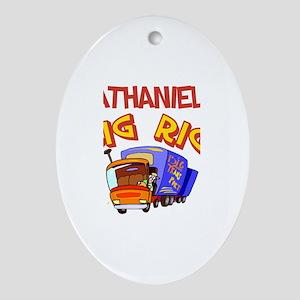 Nathaniel's Big Rig Oval Ornament