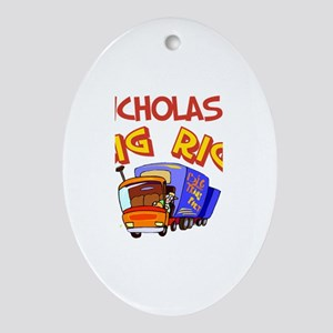 Nicholas's Big Rig Oval Ornament