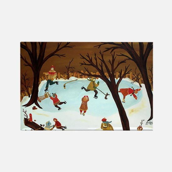 WOODLAND SKATERS Rectangle Magnet