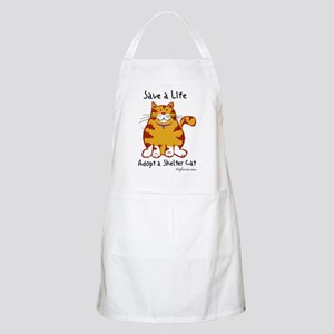 Shelter Cat BBQ Apron