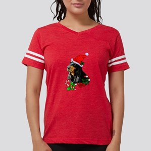 Black and Tan Coonhound Christmas T-Shirt