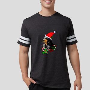 Black and Tan Coonhound Christmas T-Shirt