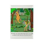 Bigfoot Cartoon 9298 Rectangle Magnet