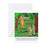 Bigfoot Cartoon 9298 Greeting Card