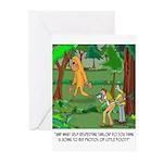 Bigfoot Cartoon 9298 Greeting Cards (Pk of 20)