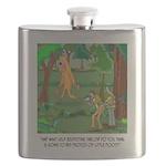 Bigfoot Cartoon 9298 Flask