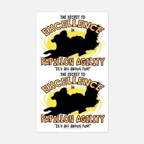The Secret to Papillon Agility Sticker (2 in 1)