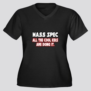 """""""Mass Spec...Cool Kids"""" Women's Plus Size V-Neck D"""