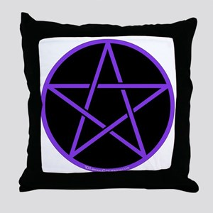 Purple/Black Pentagram Throw Pillow